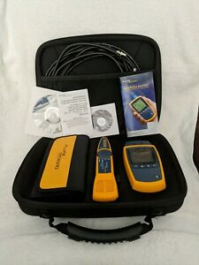 Fluke Networks Microscanner 2 Network Cable Tester Kit used Once