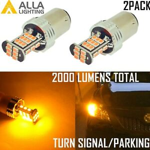 Alla Lighting Led 1156 3497 Amber Yellow Front Rear Turn Signal Light Bulb Lamp