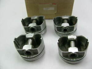 4 Trw Forged Piston Chevy Small Block Sbc 400 W 6 Rod 350 Crank Std Size