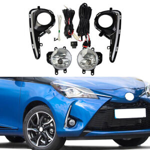 For Toyota Yaris 2018 2019 Hatchback Fog Light Chrome Bezel Switch Cable Harness
