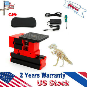 Diy Mini Wood Motorized Lathe Saw Machine Woodworking Jig saw Sawing Tool Kit