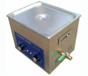 10l Ultrasonic Cleaner With Heater 240w Jewelry Watches Dental Tattoo Y