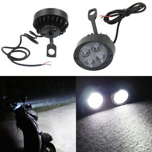 Black Motorcycle Motorbike Headlight Spot Fog Lights Head Front Work 4 Led Us