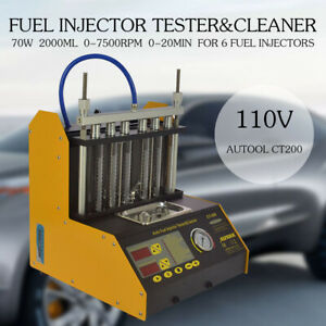Ultrasonic Fuel Injector Cleaner Tester 110v For Petrol Car Motor Autool Ct200