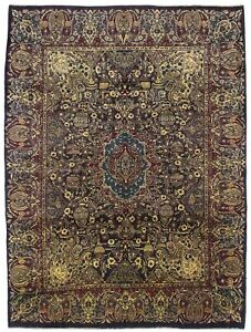 Pictorial Design Vintage 10x13 Semi Antique Persian Rug Oriental D Cor Carpet