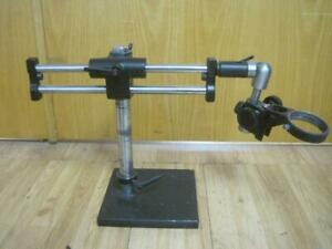 Adjustable Focusing Arm W Boom Stand For Stereo Zoom Microscope Heavy Duty