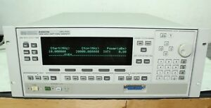 Hp 83620b Sweeper Swept Signal Generator 10 Mhz 26 8 Ghz 001 008 H30 Cal d
