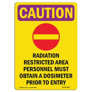 Osha Caution Radiation Sign Radiation Restricted With Symbol made In The Usa