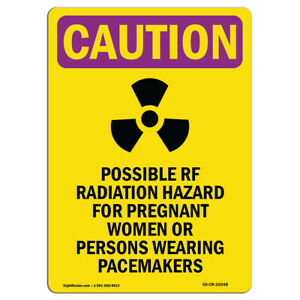 Osha Caution Radiation Sign Possible Rf Radiation With Symbol made In The Usa
