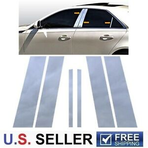 For 2008 2013 Cadillac Cts 4dr Sedan Stainless Steel Chrome Pillar Post Trim 6pc