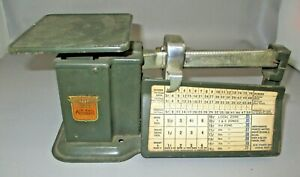 Antique Postal Scale By Triner Air Mail Accurate 1940 s With Rate Car