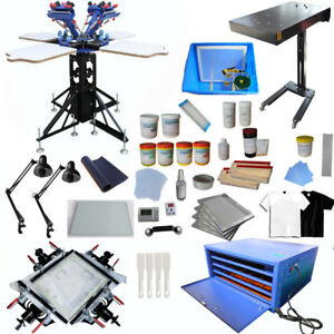 4 Color Screen Printing Kit Bundle Screen Printing Supply T shirt Printing Press