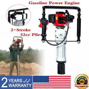 52cc Gasoline Gas Power Push Pile Post Driver 2stroke Aircooling Single Cylinder