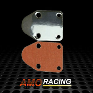 Sbc Chrome Fuel Pump Block Off Plate Fit Small Block Chevy 283 327 350 383 400