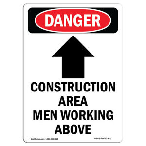 Osha Danger Sign Construction Area Heavy Duty Sign Or Label
