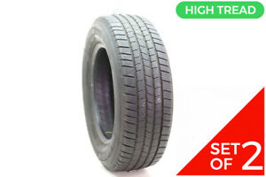 Set Of 2 Used 245 65r17 Michelin Defender Ltx M s 107t 8 5 9 32