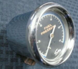 Sun 2 5 8 Blue Line Fuel Pressure Gauge Muscle Car Gasser Motion Performance