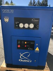 30 Hp Quincy Rotary Screw Air Compressor With Quincy Dryer 125 Cfm
