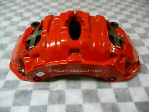 2011 2016 Porsche Cayenne 958 Brembo Left Front Brake Caliper Red 7pp615123 Oem