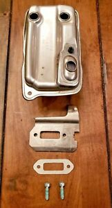 New Genuine Stihl Muffler Exhaust Assembly W gaskets Ts410 Ts420 42381400611 Oem