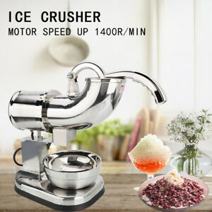 Electric Ice Shaver Machine Snow Cone Maker 440lbs Crusher Shaving 440 Lbs