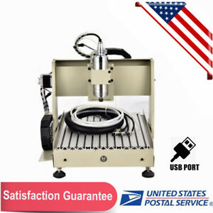 4axis 3040 Cnc Router Engraver Engraving Milling Cut Machine 2400rpm 800w Ups