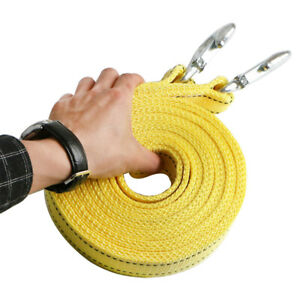 Heavy Duty Tow Strap 2 x 20 Rope Car Boat Trailer 17700lb Towing Recovery