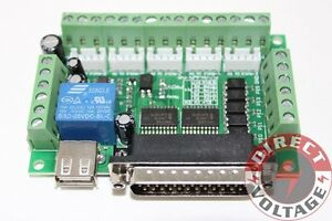 5 Axis Cnc Interface Adapter Breakout Board For Stepper Motor Driver Mach3