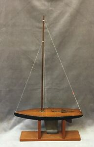 Antique Skeleton Keel Pond Yacht Boat Model