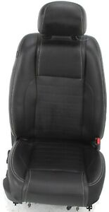 2011 2014 Ford Mustang Front Passenger Side Seat Leather Black Powered Bag