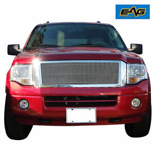 Fit For 2007 2014 Ford Expedition Chrome Aluninum Billet Grille Shell
