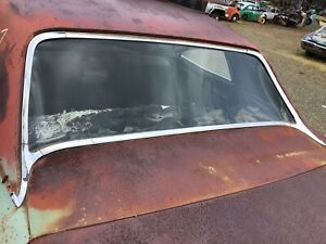 1966 1967 Pontiac Lemans Tempest 4 Door Ht Back Window Reveal Trim