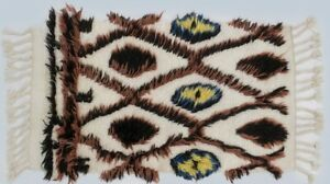 Tribal Style Hand Knotted Small 2x3 Moroccan Rug Oriental Home Decor Carpet