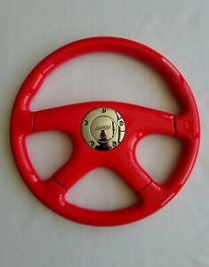 Raptor 15 Red Wood Grain Steering Wheel