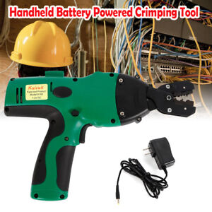 Electric Ratchet Crimping Tool Wire Crimper Pliers Insulated Cable Terminal 12t