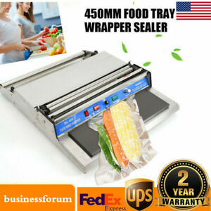 450mm Food Tray Film Wrapper Wrapping Machine Sealer Cling Fresh Stretcher 110v