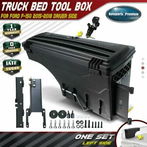 1x Lockable Storage Box Truck Bed Tool Box Driver Side For Ford F 150 2015 2019