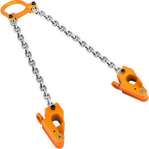 2000 Lbs Chain Drum Lifter Vertical Alloy Steel Head 30 55 gallon Plastic