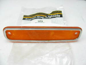 Vintage Signal Stat 8953a Amber Side Marker Light Lamp Reflector Made In Usa