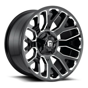 Fuel Warrior D607 Rim 20x9 8x170 Offset 1 Gloss Black Milled Quantity Of 4