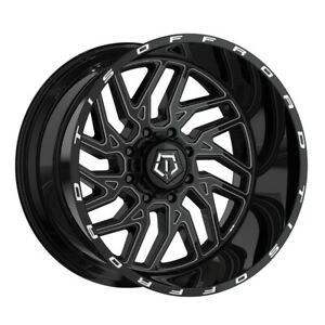 Tis 544bm 20x9 5x139 7 5x150 Offset 18 Gloss Black W Milled Accents qty Of 4