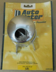 Auto Meter 5201 Chrome Mounting Cup 2 5 8 For Pressure Temperature Gauges