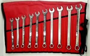 Snap on 10 Pc 12 point Metric Flank Drive Plus Standard Combination Wrench Set