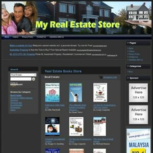 Real Estate Book Store Professionally Designed Website Free Domain