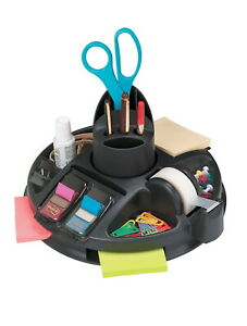 Post it Rotary Organizer With Tape Post it Notes And Flags Plastic Black