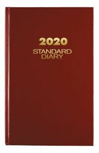 At a glance Standard Diary Daily Planner 7 75 X 12 Red Jan dec 2020 Sd3761320
