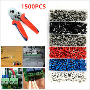 0 25 10mm 1500pc Terminal 2 Bootlace Ferrule Crimper Crimping Tool Cord Wire End