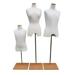 Mannequin Torso Clothing Display Dress Form Cloth Pinnable Foam Stand