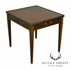 Baker Vintage Regency Directoire Style Rosewood One Drawer Side Table