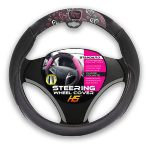 Butterflys Steering Wheel Cover And Comfort Grip Black